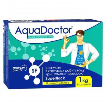 Суперфлок (флокулянт, охлопитель) (1кг = 8 картушей) AquaDoctor Китай