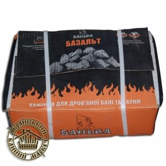 """Камень для банных печей """"Базальт"""", колот., 60-90 мм (20 кг)"""