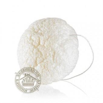 Гипоалергенный спонж для пилинга (белый)