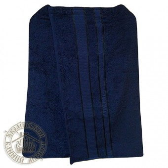 Парео банное махровое (темно-синее)