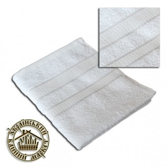 Махровое полотенце белое (40*70)