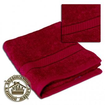 Махровое полотенце вишневое (50*90)