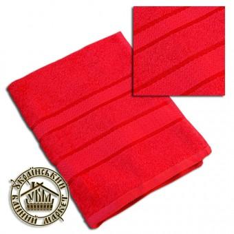 Махровое полотенце красное (50*90)