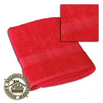 Махровое полотенце красное (70*140)