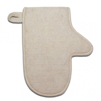 Рукавица для бани (натуральная шерсть)