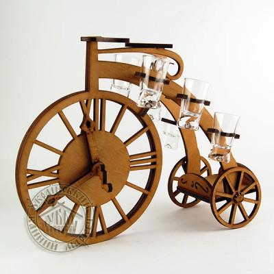 """Рюмочный набор """"Ретро велосипед"""""""