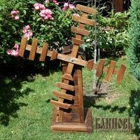 Деревянная мельница для сада (палисандр)