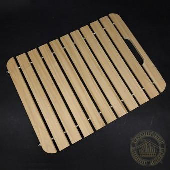 Сидушка для бани и сауны липовая 40*50 см с ручкой