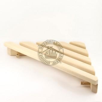 Полка угловая с вешалкой (6 крючков), липа