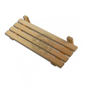 Полка деревянная настенная липовая (60 см)