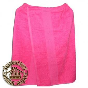 Парео банное махровое (розовое)