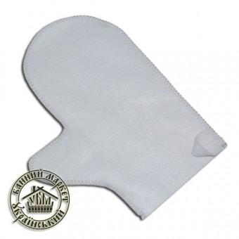 Рукавица для бани (белый искусственный войлок)