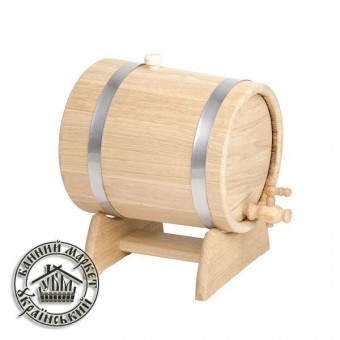 Жбан - бочка для вина и коньяка, 5 л (нерж)