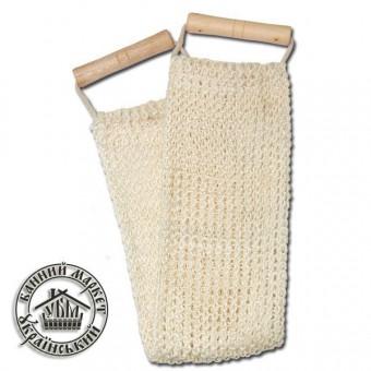 Мочалка для бани, мелкая вязка (сизаль) №2