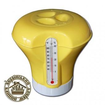 Дозатор для химии с термометром (D - 185мм) 58209  желтый