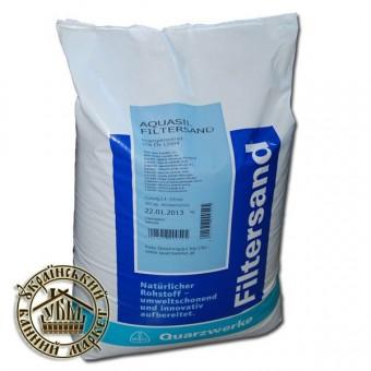 Кварцевый песок, 25 кг (Filtersand, Австрия) 0,4-0,8 мм