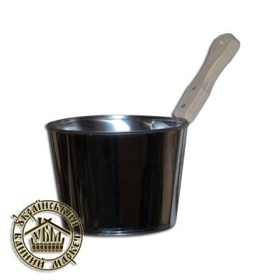 Шайка из нержавейки для бани и сауны (4л)