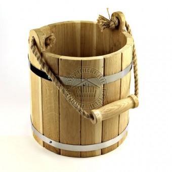 Ведро для бани, 10 л дубовое (узкий верх)