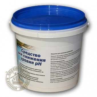 Регулятор уровня pH в бассейне  pH- (1 кг) (Германия, Chemoform)