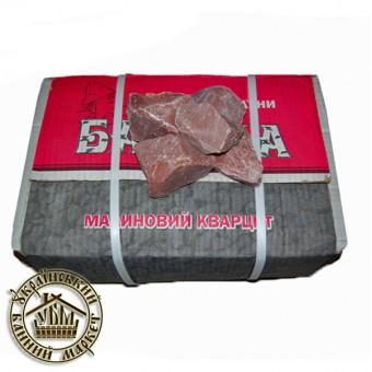 """Камень для банных печей """"Малиновый кварцит"""" колотый 50-70 мм (20 кг)"""