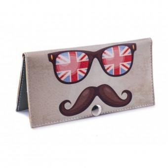 Женский кошелек -Британские очки-. Ручная работа