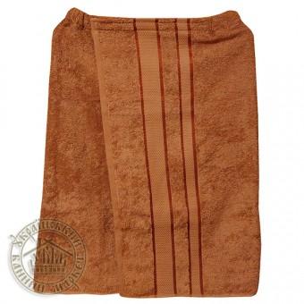 Парео банное махровое (светло-коричневое)