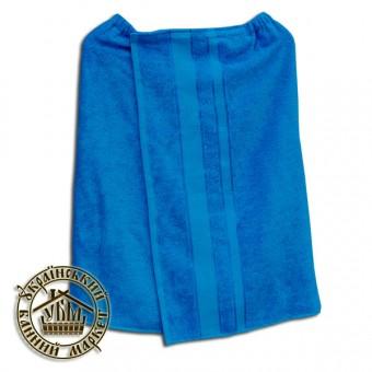 Парео махровое cветло-синее