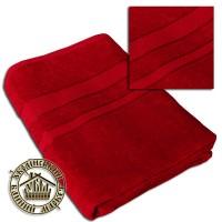 Махровое полотенце бордовое (100*150)