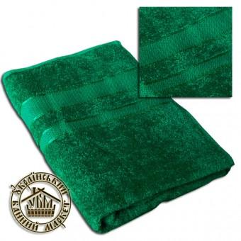 Махровое полотенце изумруд (100*150)