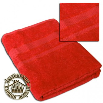 Махровое полотенце красное (100*150)