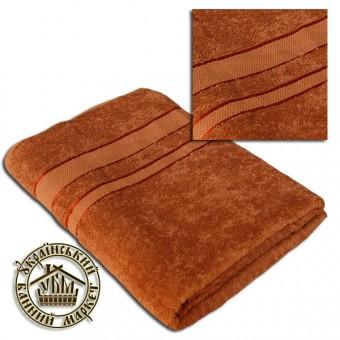 Махровое полотенце светло-коричневое (100*150)