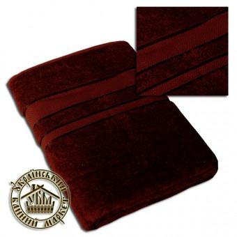 Махровое полотенце темно-коричневое (100*150)