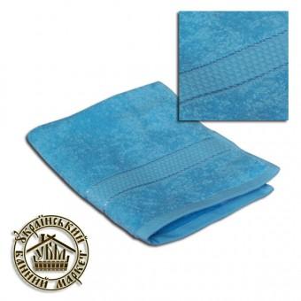 Махровое полотенце голубое (40*70)