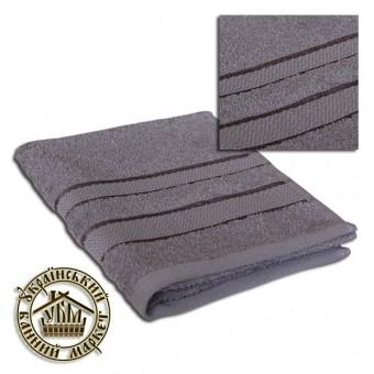 Махровое полотенце серое (40*70)