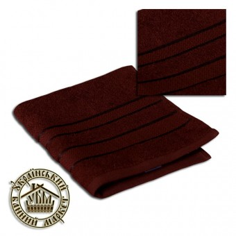 Махровое полотенце темно-коричневое (40*70)