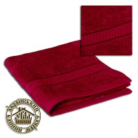 Махровое полотенце вишневое (40*70)