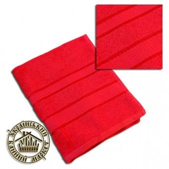 Махровое полотенце красное (40*70)