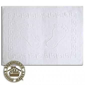"""Махровое полотенце белое """"Ножки"""" (50*70)"""