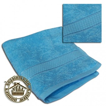 Махровое полотенце голубое (50*90)
