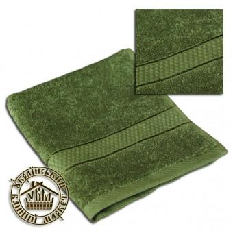 Махровое полотенце оливка (50*90)