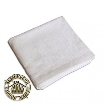 """Махровое полотенце белое """"Отель"""" (50*90)"""