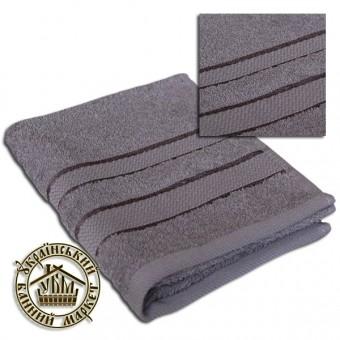 Махровое полотенце серое (50*90)