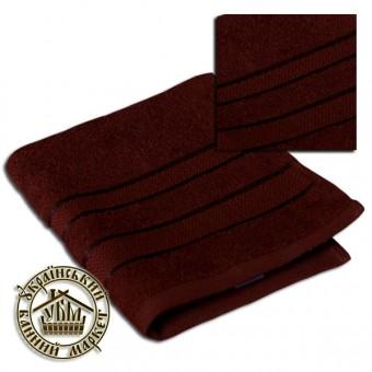 Махровое полотенце темно-коричневое (50*90)