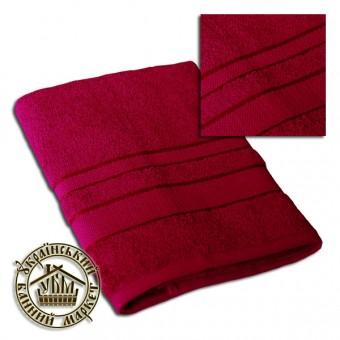 Махровое полотенце вишневое (70*140)