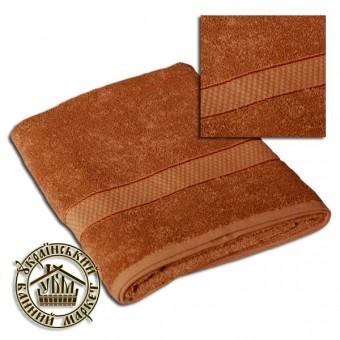 Махровое полотенце светло-коричневое (70*140)
