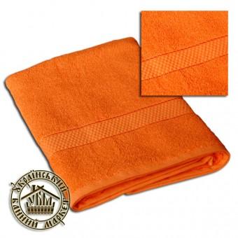 Махровое полотенце оранжевое (70*140)