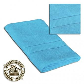 Махровое полотенце голубое (70*140)