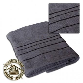 Махровое полотенце серое (70*140)