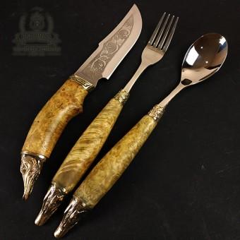 """Столовый набор """"Щуки"""" в кейсе (ложка + вилка + нож )"""