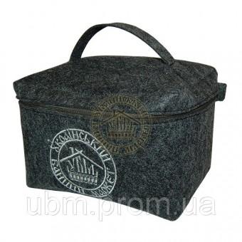 Войлочная сумка косметичка (со змейкой)